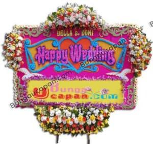 Papan Bunga Happy Wedding BUHW 01