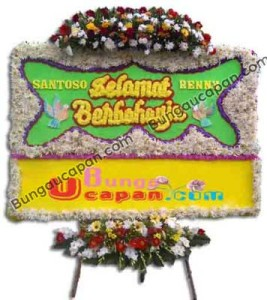 Bunga Papan Perkawinan Jakarta BUHW 11