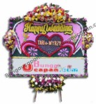 Jual Bunga Papan Happy Wedding BUHW12