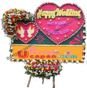 Bunga Papan Pernikahan Jakarta BUHW 03