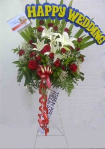 Standing Flower Happy wedding (BUSF 04)