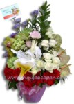 Rangkaian Bunga Meja Murah BURB 33