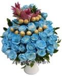 Rangkaian Bunga Mawar Biru BURB 10