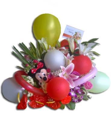 Baby Gift, Kado lahiran, kado bayi, Rangkaian Bunga Balon