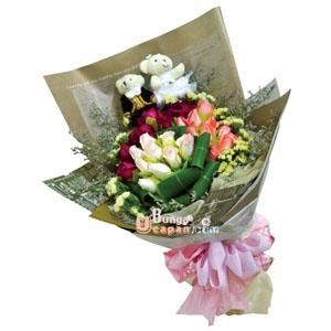 Rangkaian Bunga Hand Bouquet, buket anniversary