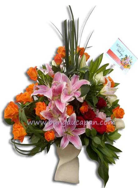 Rangkaian Bunga BURB 45