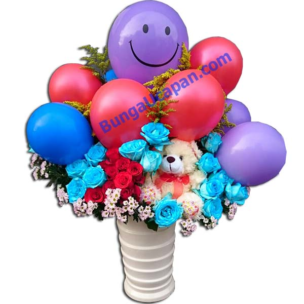 Jual Bunga Balon, bunga balon, bunga lahiran, rangkaian balon