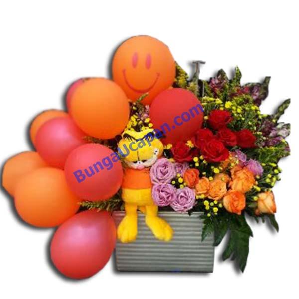 Jual Bunga Meja Balon, bunga balon, bunga meja, bunga lahiran, lahiran bayi, bayi lahir, rangkaian balon, new born