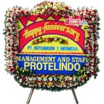 Karangan Bunga Papan Happy Anniversary BUUT 31