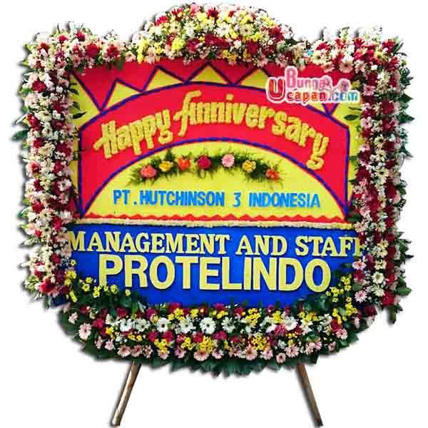 Karangan Bunga Papan Happy Anniversary