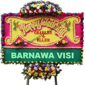 Bunga Papan Happy Wedding BUHW 57
