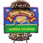 Karangan Bunga Happy Wedding BUHW 54