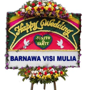 Karangan Bunga Happy Wedding BUHW 50