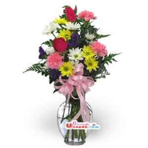 Bunga Vas Mix Flower (BUV 30)