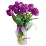 Bunga Vas Tulip Ungu (BUV 26)