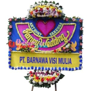 Bunga Papan Wedding BUHW 63