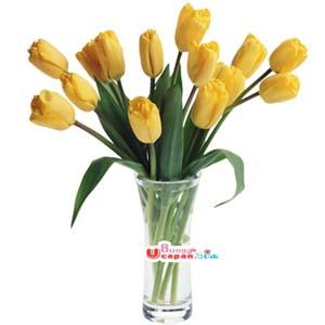 Bunga Vas Tulip Kuning